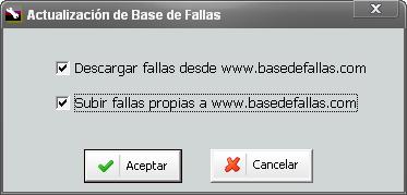 Actualización de la Base de Fallas en el SAT Manager